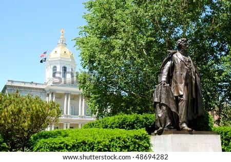 Franklin Pierce statue - stock photo