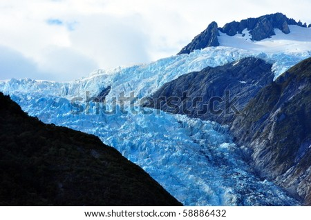 Franz Josef Glacier. South Island, New Zealand - stock photo