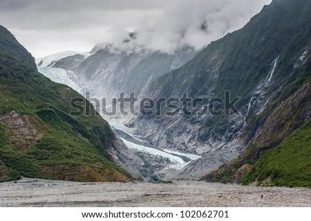 Franz joset glacier, New Zealand - stock photo