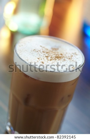 frappe in a glass - stock photo