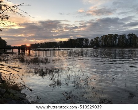 Fraser river at sunrise