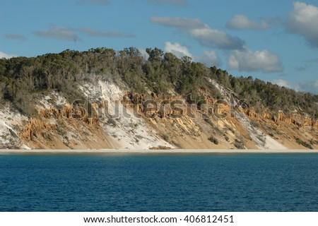 Frasier Island, Hervey bay, Australia - stock photo