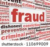 Fraud message conceptual design. Criminal offence poster concept - stock photo