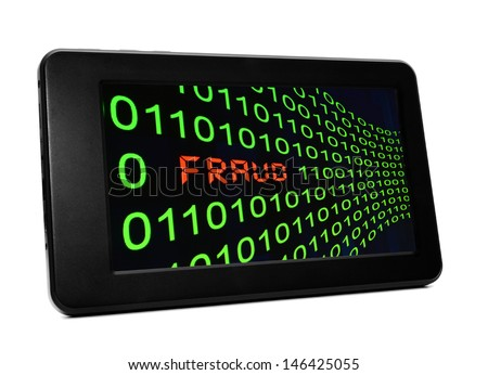 Fraud on pc table t - stock photo