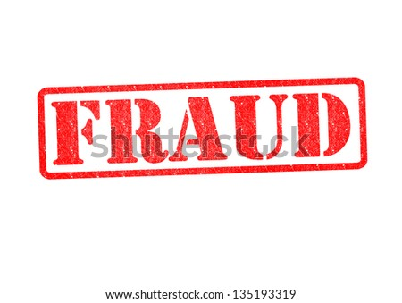 FRAUD Rubber Stamp over a white background. - stock photo