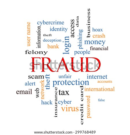 Fraud Word Cloud Concept with great terms such as alert, identity, theft and more. - stock photo