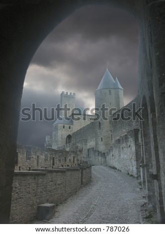 Freaky castle - stock photo