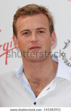 Freddie Andrews arriving for the WTA Pre-Wimbledon Party 2013 at the Kensington Roof Gardens, London. 20/06/2013 - stock photo