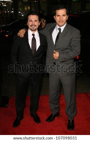 Freddy Rodriguez and John Leguizamo  at the Los Angeles Premiere of 'Nothing Like The Holidays'. Grauman's Chinese Theater, Hollywood, CA. 12-03-08 - stock photo