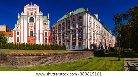 Frederic Chopin Park in Poznan - the oldest existing city park in Poznan. It is located at ul. Podgorna, at the back of the Jesuit college (now the City Hall). - stock photo
