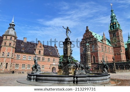 Frederiksborg castle, the largest Renaissance palace in Denmark and Scandinavia  - stock photo