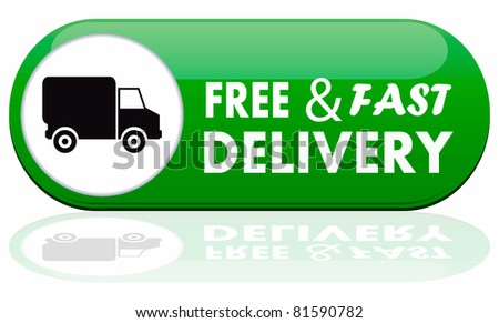 Free and fast delivery banner - stock photo