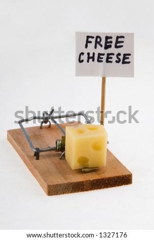 Free Cheese. - stock photo