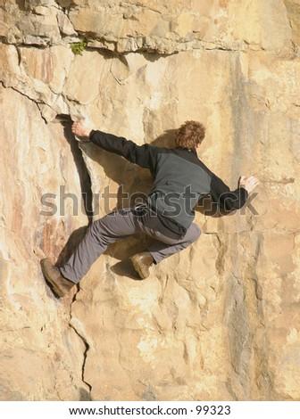 Free Climber - stock photo