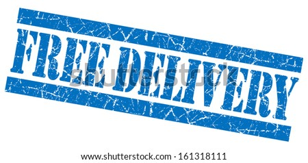 Free delivery blue grunge stamp - stock photo