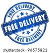 Free delivery stamp - stock vector