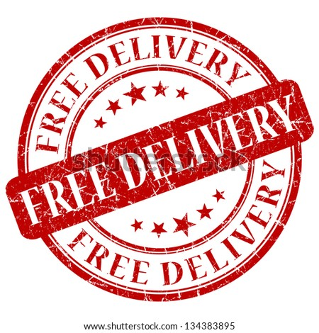 free delivery stamp - stock photo