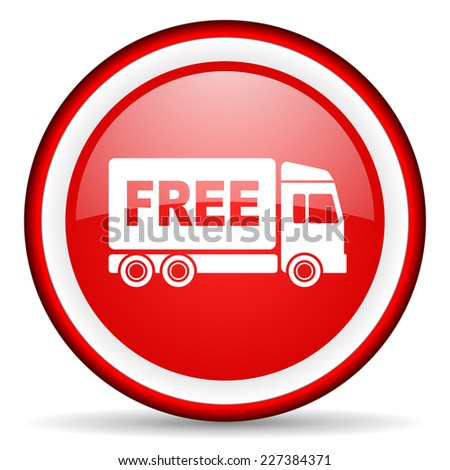 free delivery web icon - stock photo