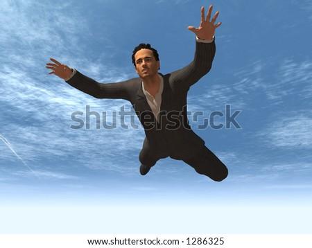 Free Falling - stock photo