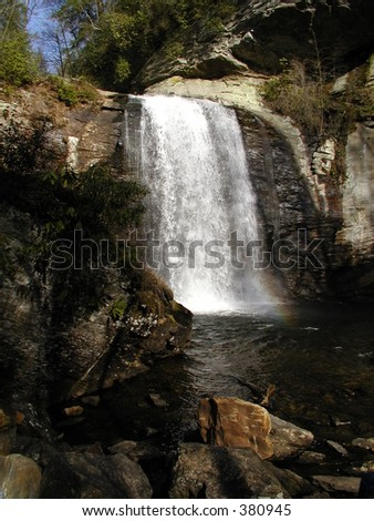 Free Falling Pisgah Waterfall - stock photo