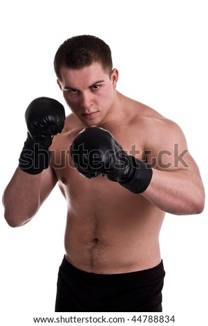 free fighter on white background