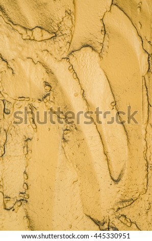 Free form sculptured plaster wall / Abstract background / In passive colors to blend with one's mood and design - stock photo