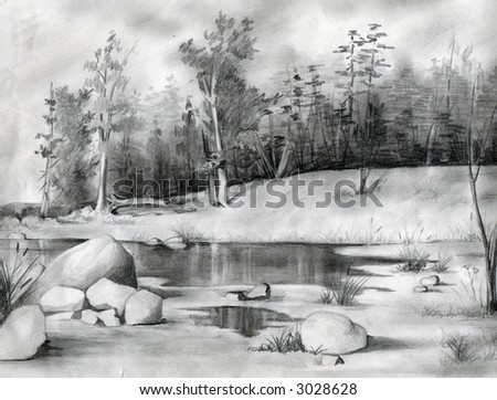 Freehand Drawing Drawing By Pencil Artistic Stock Illustration ...