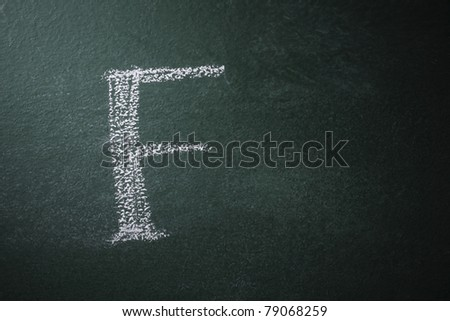free hand writing alphabet on the black board