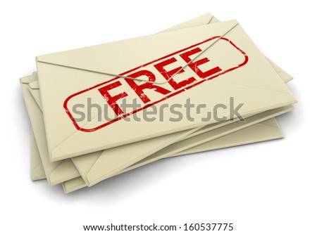 free letters  (clipping path included)