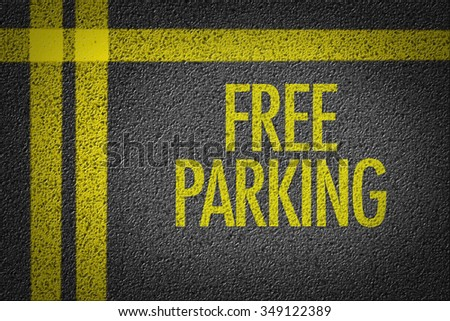 Free Parking written on the parking lot - stock photo