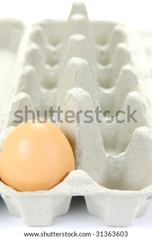Free range eggs isolated against a white background
