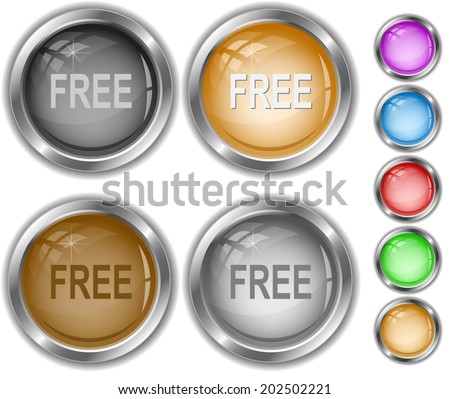 Free. Raster internet buttons.  - stock photo