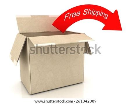 Free Shipping - stock photo