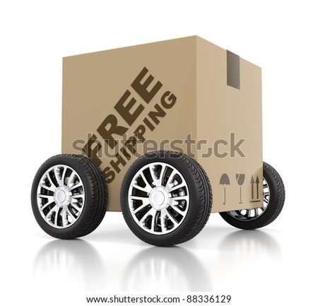 Free shipping concept - stock photo