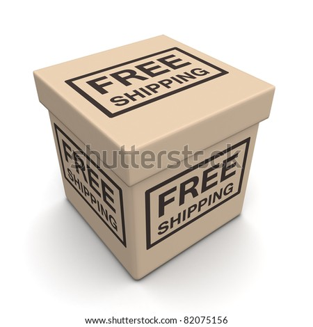 Free shipping parcel ecommerces business concept 3d illustration - stock photo