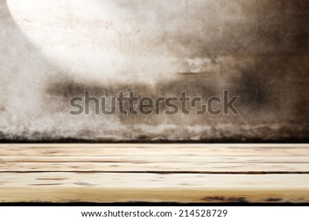 free space of board and wall  - stock photo