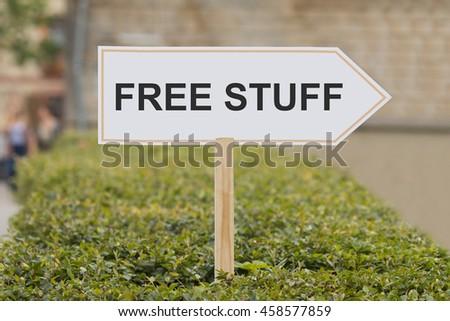 free stuff signpost - stock photo