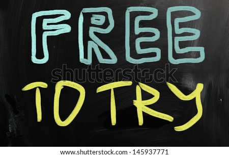 Free to try - stock photo