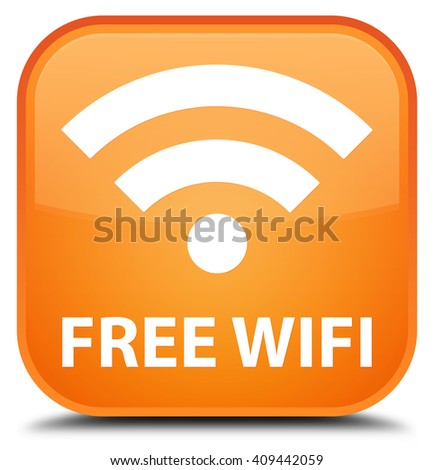 Free wifi orange square button