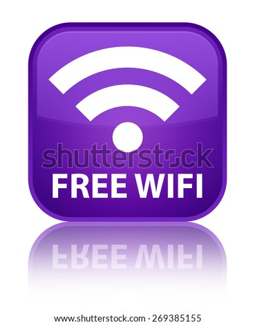 Free wifi purple square button