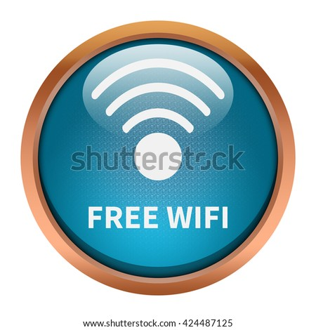 Free wifi round button