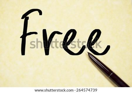 free word write on paper  - stock photo