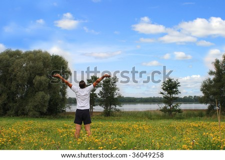 Freedom feeling - stock photo