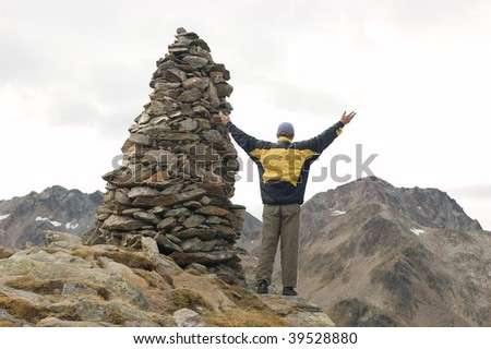 Freedom in mountains / Austrian Alps - stock photo