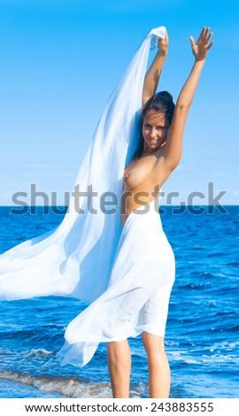 Freedom of nudity - stock photo