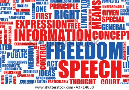 Freedom of Speech Concept in the Free World - stock photo