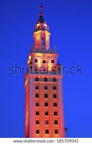 Freedom Tower in Miami, Florida - stock photo