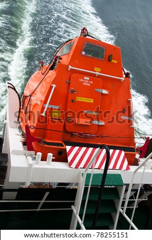 Freefall Lifeboat - stock photo