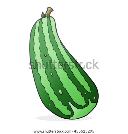freehand drawn cartoon marrow - stock photo