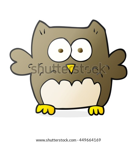 freehand drawn cartoon owl